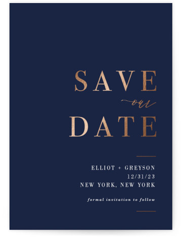 Greyson Foil-Pressed Save The Date Cards