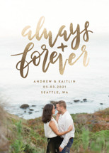 always and forever Foil-Pressed Save the Date Cards By Amy Payne