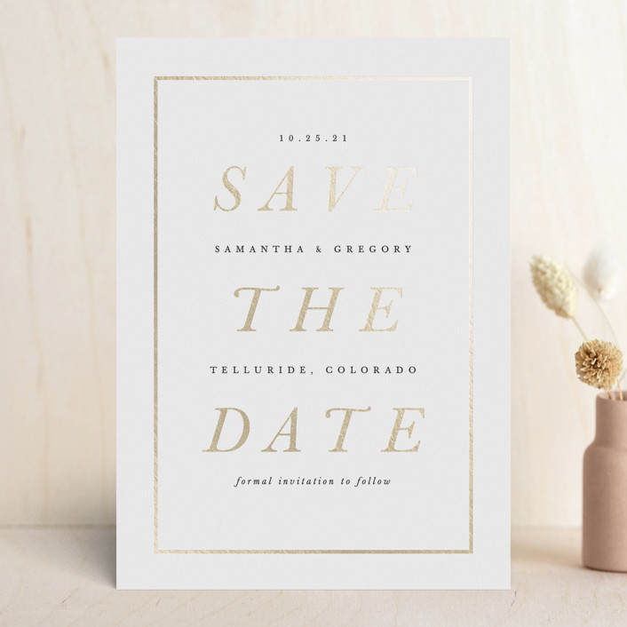 Classic Foil Pressed Save the Date