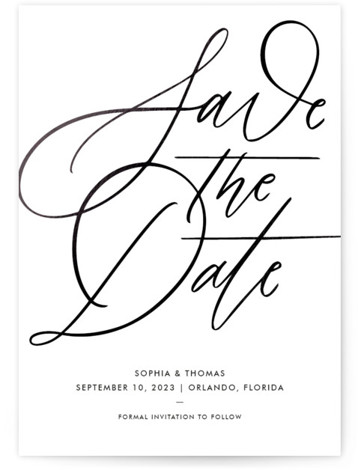 Delicate Dates Foil-Pressed Save The Date Cards