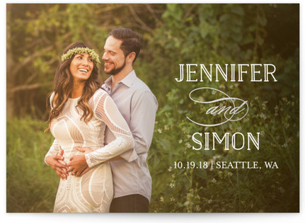 Sunshine Of Your Love Foil-Pressed Save the Date Cards