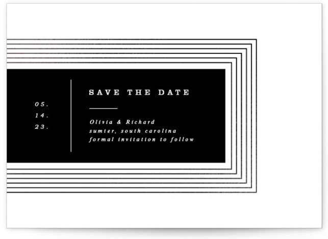 rhythm Foil-Pressed Save The Date Cards