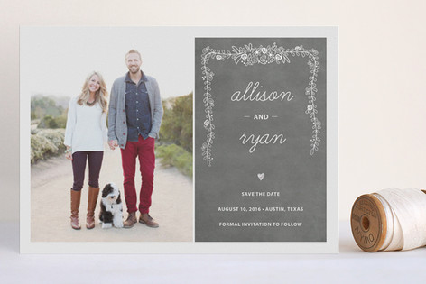 Chalkboard Foil-Pressed Save The Date Cards