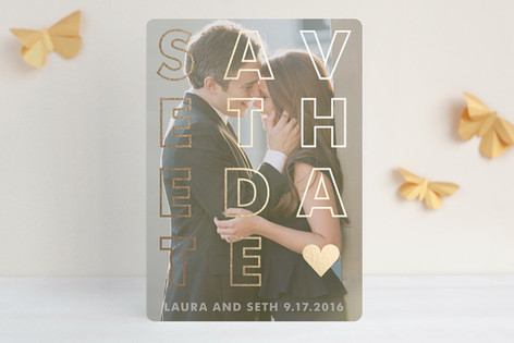 Etched Foil-Pressed Save The Date Cards