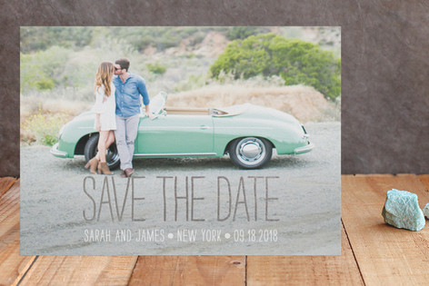 Happiest Homestyle Foil-Pressed Save The Date Cards
