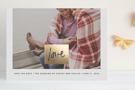 Let Love Rule Foil-Pressed Save The Date Cards
