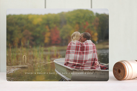 Love Line Foil-Pressed Save The Date Cards