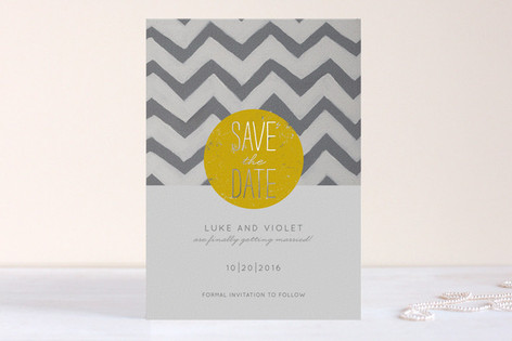 My Sunshine Foil-Pressed Save The Date Cards