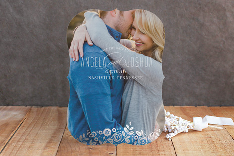 White Shadows Foil-Pressed Save The Date Cards