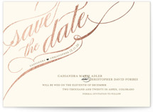 Winter Flourish Foil-Pressed Save The Date Cards
