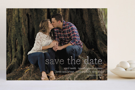 Simply in Love Foil-Pressed Save The Date Cards