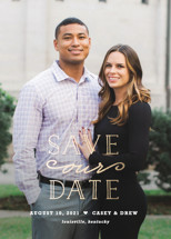 XOXO Foil-Pressed Save the Date Cards By Carolyn MacLaren