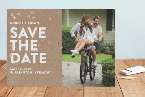 Confetti Glitz Foil-Pressed Save The Date Cards