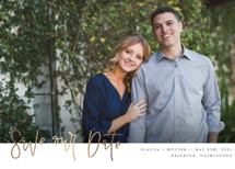 Simply Panoramic Foil-Pressed Save the Date Cards By Olivia Goree