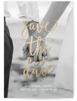 Statement Foil-Pressed Save The Date Cards