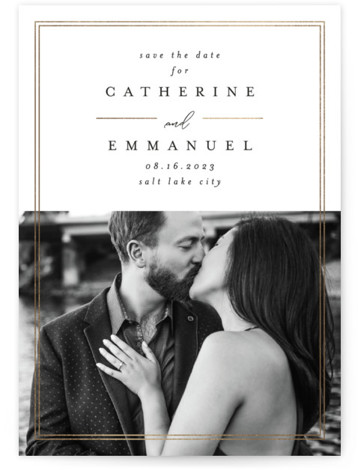 Classic Modernista Foil-Pressed Save The Date Cards