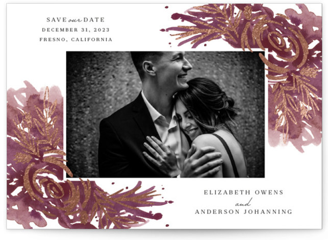 Elegance Foil-Pressed Save The Date Cards