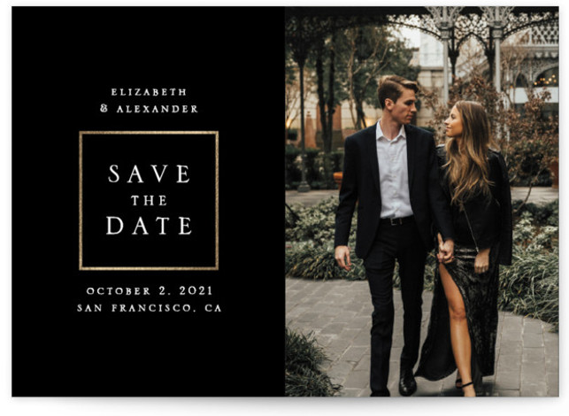 Ð¡lassic Foil-Pressed Save The Date Cards
