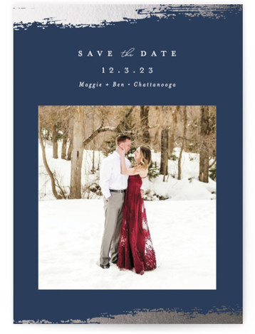 rustic elegance Foil-Pressed Save The Date Cards