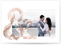 Flourish Ampersand Foil-Pressed Save the Date Cards By Phrosne Ras