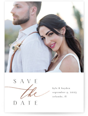 Romantique Foil-Pressed Save The Date Cards