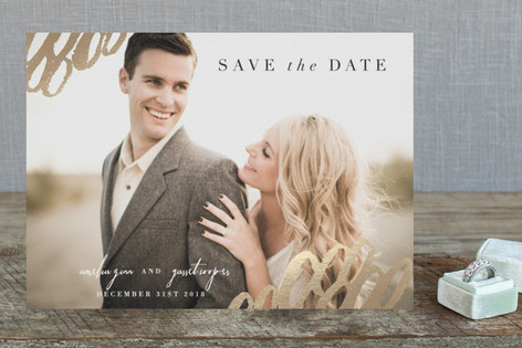 Eclectic Foil-Pressed Save The Date Cards