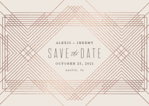 Extended Foil-Pressed Save the Date Cards By Rebecca Bowen