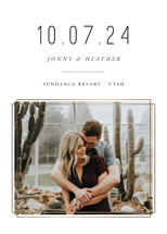 Modern Simplicity Foil-Pressed Save the Date Cards By Robert and Stella