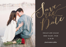 Cottonwood Foil-Pressed Save the Date Cards By Eric Clegg