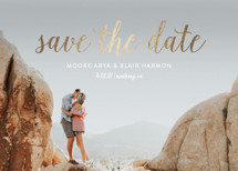 Brooklyn Bridge Foil-Pressed Save the Date Cards By Little Words Design