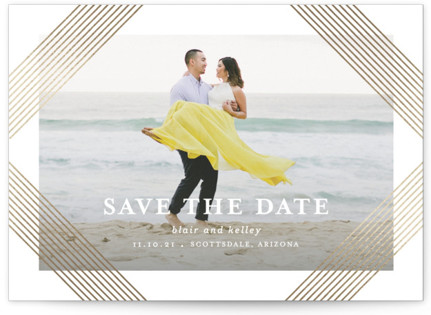 Grand Foil-Pressed Save the Date Cards