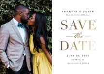 Simply Striking Foil-Pressed Save the Date Cards By Stacey Meacham