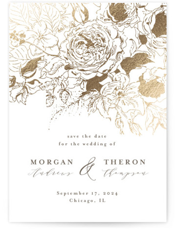 Fairy Garden Foil-Pressed Save The Date Cards