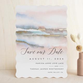 """""""Hidden Gem"""" - Rustic, Beach Foil-pressed Save The Date Cards in Sunrise by Petra Kern."""