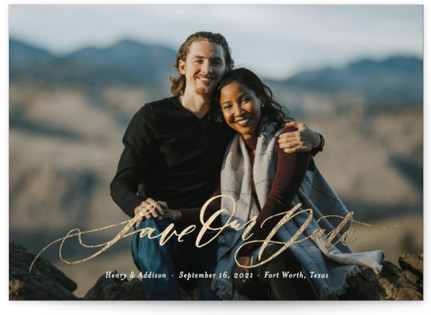 Summer of Love Foil-Pressed Save the Date Cards
