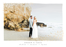 River Rock Foil-Pressed Save the Date Cards By AK Graphics