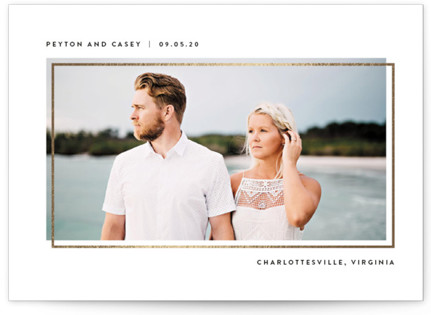 Offset Foil-Pressed Save The Date Cards