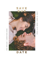 Framed Foil-Pressed Save the Date Cards By Susan Brown