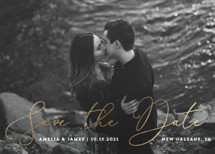 script love Foil-Pressed Save the Date Cards By Chasity Smith
