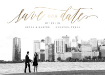 Modern Couple Foil-Pressed Save the Date Cards By Hooray Creative