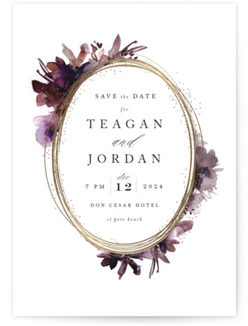 Shimmer Foil-Pressed Save The Date Cards