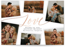 Charming Collage Foil-Pressed Save The Date Cards