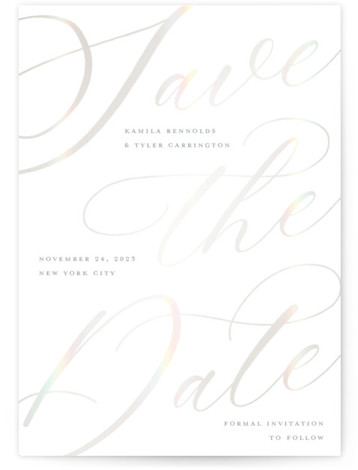 Scriptic Gloss-Pressed Save The Date Cards