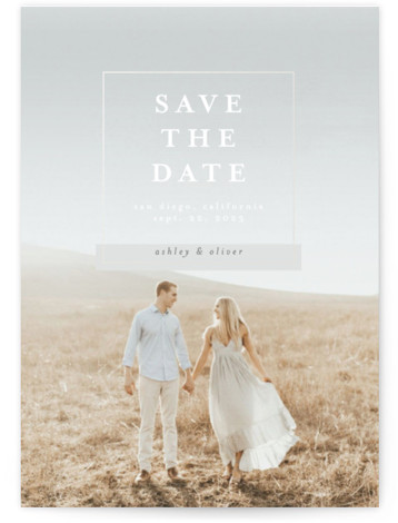Classic Wedding Gloss-Pressed Save The Date Cards
