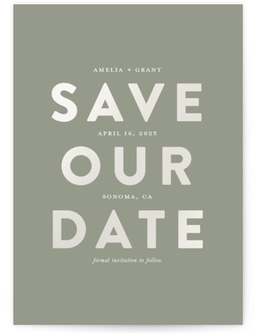 Seven Gloss-Pressed Save The Date Cards