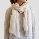 This is a pink sheer scarf by Ariel Rutland called Desert Dot Dash.