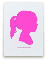Custom Silhouette Letterpress Art