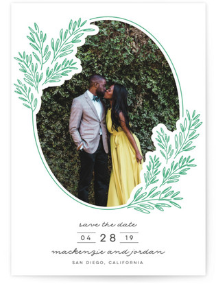 photo of Growing Together Letterpress Save The Date Cards