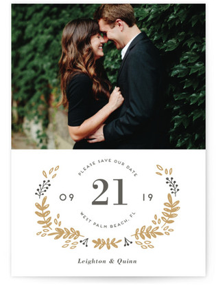 Simply Elegant Letterpress Save The Date Cards