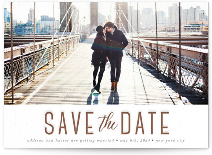 Simply Stated Letterpress Save The Date Cards